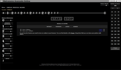 Clave tre due con il metronomo online.